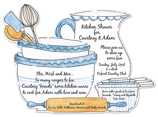 Chá De Cozinha Convites Blogdacarlaoliveira